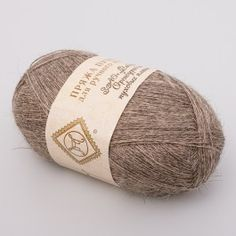 Natural Down Yarn for Hand-Knitting (gray) Mohair and wool yarn from Russia...great deal and perfect for knitting an Orenburg style shawl!