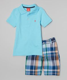 Equal parts classroom casual and sporty-stylish, this instant outfit is versatile enough for a wide variety of occasions. A classic polo made from soft, easy-to-clean cotton combines with a trendy pair of plaid shorts for ultimate comfort and convenience.