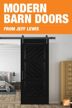 On-trend barn doors offer craftsman designs and an authentic wood look. Whether your home is colonial, modern or contemporary, the symmetry and clean lines of these Jeff Lewis Barn Door Kits by Masonite will fit seamlessly into your home's decor. Choose from a variety of colors and designs to find the right space-saving barn door for you. Click to shop the collection.