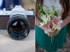 "Jessica M. Wood Photography Blog: ""Frosted"" by Monica    #styled shoot #camera #bouquet"