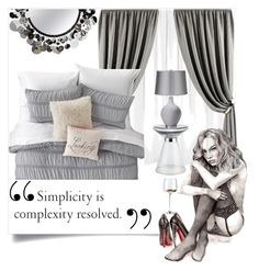 """""""Simplicity"""" by carlenewright on Polyvore featuring interior, interiors, interior design, home, home decor, interior decorating, Artisan House, Nordstrom Rack, bedroom and singleladies"""