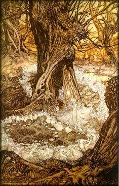 'Come, Now a Roundel' by Arthur Rackham (1867-1939). The Goblin Ball: Ember Rule, Melbourne, Australia. 14th June 2014 www.thegoblinball.com