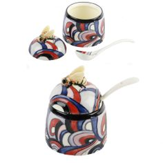 SMALL ART DECO CLARICE CLIFF OLD TUPTON WARE HONEY POT.NEW + BOX.CRAZY CLEARANCE