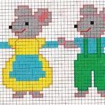 barrado de ratinhos ponto cruz