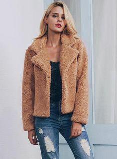 9bef8e23f81 Suit Collar Coat Short Coat Fur Coat For Women
