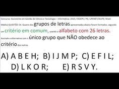 Curso de Raciocínio Lógico Sequência letras Teste Psicotécnico Detran Co... https://youtu.be/gNZ8cJRrWjg