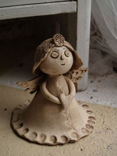 andílek - Hobbies paining body for kids and adult Clay Wall Art, Clay Art, Pottery Sculpture, Sculpture Clay, Clay Ornaments, Handmade Ornaments, Pottery Angels, Clay Crafts For Kids, Ceramic Angels