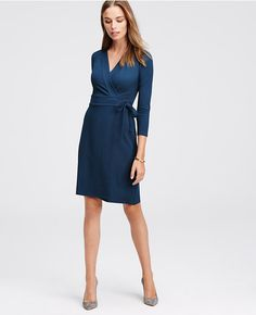 Always looking for good wrap dresses...3/4 Sleeve Wrap Dress