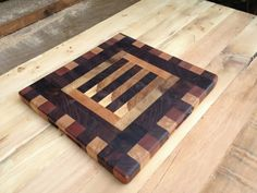 driftedge woodworking: Patterned End Grain Cutting Board. $95.00