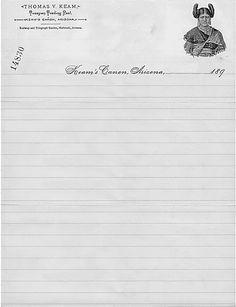 Thomas Varker Keam, 1894 | Source Rockwell Kent, Letterhead, Family History, The Magicians, Letterpress, Letterpress Printing, Letterpresses, Genealogy