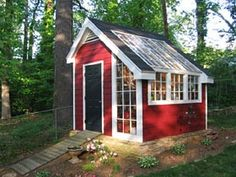 Better Homes & Gardens greenhouse plans.  Wonder if I can turn the back of my garage into this?
