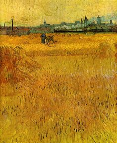 Gogh, Vincent van (Dutch, 1853-1890) - Arles, view from the wheatflelds - 1888 | Flickr: Intercambio de fotos