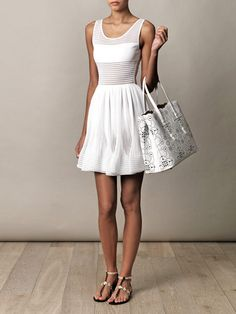 39616231354 Azzedine Alaia - White dress and bag