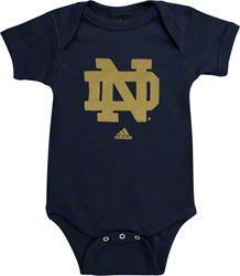 e8ed601db Notre Dame Fighting Irish adidas Navy Infant Logo Creeper Notre Dame  Shirts, Baby Shirts,
