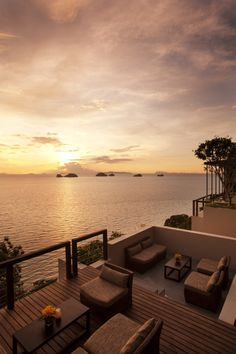 Come to visit us for the sunset cocktail at Aura Lounge #conradkohsamui