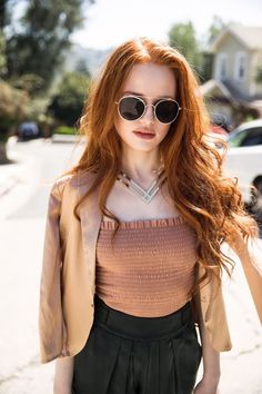 look left Madelaine Petsch
