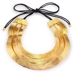 Josie Natori Layered Wire Necklace