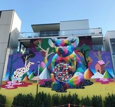 Okuda in Subiaco, Perth, Western Australia, 2017 Western Australia, Australia 2017, Okuda, Urban Art, Appreciation, Perth, Projects, Ads, St Michael