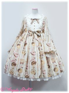 Angelic Pretty Melty Cream Doughnut OP (high) Mint or Ivory