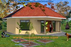 Overall Dimensions- Garages- 0 Car GarageArea- Square metres Round House Plans, My House Plans, Beautiful House Plans, Beautiful Homes, Single Storey House Plans, Two Story House Design, Building Costs, Model House Plan, Corner House