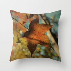 Pillow Cover Autumn Tree Photo Pillow Burnt by KalstekPhotography