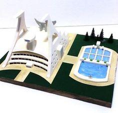 Diorama Centro Ricerche Energia Fotoatomica BASE di Mazinga Z per Chogokin o SRC