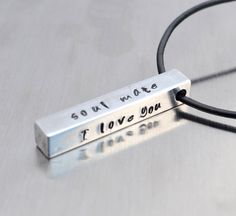 Personalized Bar Necklace Hand Stamped by FutureHeirloomDesign