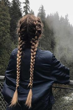 48 simple braided hairstyles: gorgeous ideas for long hair - braids - . - 48 simple braided hairstyles: gorgeous ideas for long hair – braids – - Messy Hairstyles, Pretty Hairstyles, Korean Hairstyles, Winter Hairstyles, Natural Hairstyles, Straight Hairstyles, Hair Day, Your Hair, Coiffure Hair