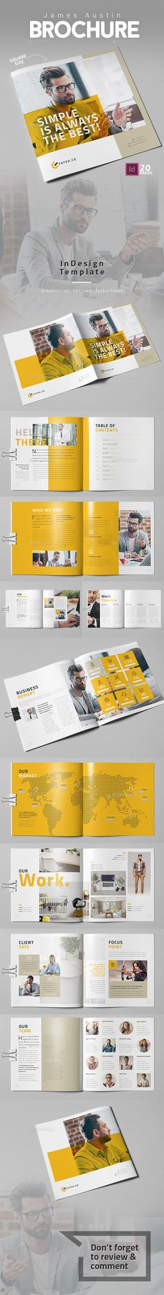 Julian Cooper Brochure  Square  — InDesign Template #print ready #agency • Download ➝ https://graphicriver.net/item/julian-cooper-brochure-square/18326758?ref=pxcr
