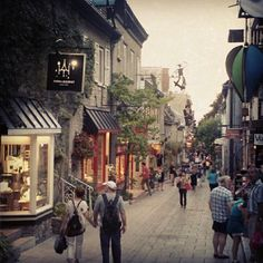Ville de Québec in Québec - Eat poutine, go to many restaurants, see as many heritage sites as possible, try to only speak French.