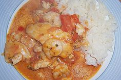 Brasilianische Fischpfanne mit Reis