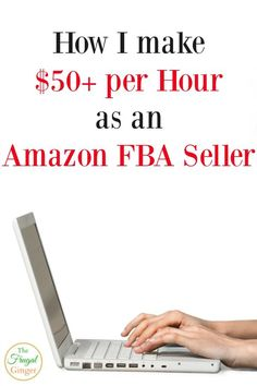 I make $50/hr selling with Amazon FBA. Even beginners can make money and become their own boss. It's a great way to work at home and earn extra cash or even a full time income.