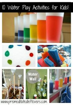 There are many water-based activities that can help your child learn this summer - why not select a few from our list and let them explore their creativity?