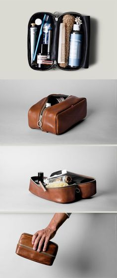 Hobbies For Software Developers Leather Art, Leather Pouch, Leather Design, Vanity Case, Crea Cuir, Dopp Kit, Leather Projects, Toiletry Bag, Leather Accessories