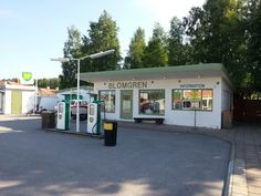 Old gasstation in Sweden Vimmerby Astrid Lindgrens world.