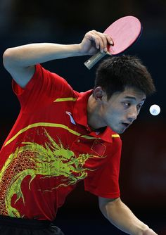 Zhang Jike of China competes in his Men's Singles Table Tennis Quarter Final match against Tianyi Jiang of Hong Kong, China during Table Tennis match on Day 5 of the London 2012 Olympic Games at ExCeL on August 1, 2012 in London, England. (Photo by Feng Li/Getty Images)