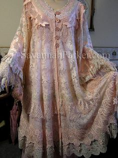 One of a kind antique lace handmade coat by Savannah Parker---this is the link to the Etsy listing w/full info