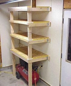 Built In Shelves Are Great For Storing Car Supplies And Gear That Is Not Used