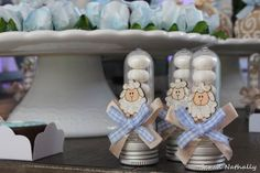 Souvenirs for baby shower with sweets - Give Details - Souvenirs for baby shower with sweets – Give Details - Baby Shower Deco, Baby Shower Themes, Baby Boy Shower, Baby Showers, Deco Candy Bar, Bomboniere Ideas, Baby Gaga, Baby Shower Planner, Farm Themed Party