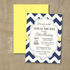 Wedding Shower Invitation Customizable Navy by SandtoPearl