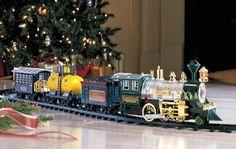 Train Set Christmas Tree Locomotive Choo Choo Sound Light Santa Track Skirt Wrap