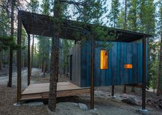 Architecture students from the University of Colorado Denver have built a series of rustic dwellings for an outdoor education school in the Rocky Mountains --- Outward Bound Cabins by Colorado students University Of Colorado Denver, Denver Colorado, Architecture Student, Architecture Design, Cabin Design, House Design, Design Design, Colorado Cabins, Prefab Cabins
