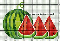 Cross Stitch Fruit, Cross Stitch Kitchen, Cross Stitch Heart, Cross Stitch Flowers, Cat Cross Stitches, Counted Cross Stitch Patterns, Cross Stitching, Cross Stitch Embroidery, Intarsia Knitting