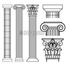 ist2_1492640-doric-ionic-corinthian-columns.jpg (380×340) | Sixth ...