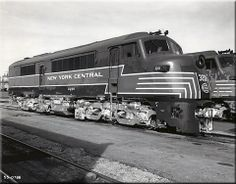 "Baldwin's interesting ""Baby Face"" carbody design. Seen here is New York Central's model DR-6-4-1500 #3201 (one of four A units the railroad purchased) during the late 1940s soon after it was built."