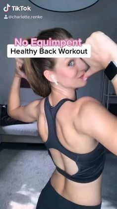 Fitness Workouts, Gym Workout Videos, Gym Workout For Beginners, Fitness Workout For Women, Body Fitness, Health Fitness, Back Workout Women, Workout Videos For Women, Fitness Wear