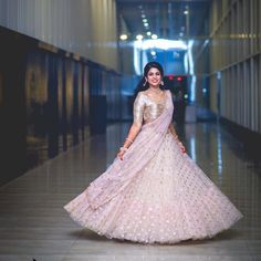 55 Bridal Lehenga designs that will inspire you - Wedandbeyond Party Wear Indian Dresses, Indian Wedding Gowns, Indian Gowns Dresses, Indian Bridal Outfits, Indian Designer Outfits, Pakistani Dresses, Prom Dresses, Designer Bridal Lehenga, Lehenga Choli Wedding