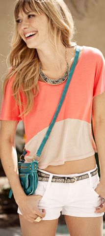 Hot Summer Days tribal beat trends from Wet Seal: Bow Backed Colorblock Tee #WetSealSummer #Contest