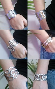 Metal Cuff bracelet steel bracelet wide by AccessoriesByAtlas