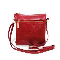 d79db8c56 Compre Relicário : Bolsa Transversal de Couro Elisa - Vermelha por R$219,00  -